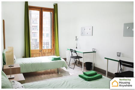 Shared room for rent from 01 Oct 2019 (Gran Via de les Corts Catalanes, Barcelona)