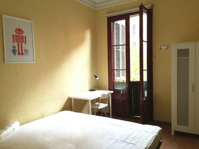 Room for rent from 01 Aug 2018 (Carrer del Bruc, Barcelona)