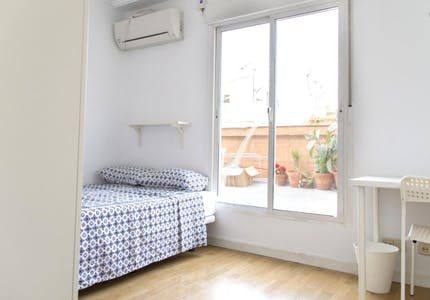 Private room for rent from 18 Aug 2019 (Calle Rafael de Riego, Madrid)