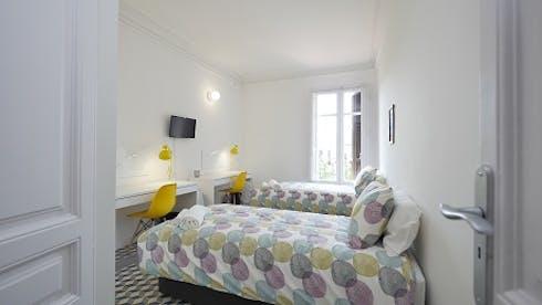 Mehrbettzimmer zur Miete ab 18 Juni 2020 (Gran Via de les Corts Catalanes, Barcelona)