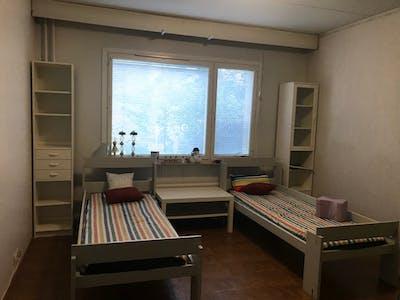 Gedeelde kamer te huur vanaf 17 feb. 2020 (Tuvvägen, Helsinki)