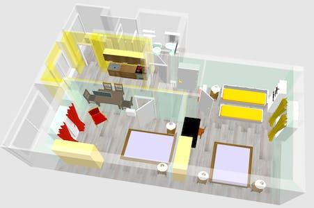 Apartamento para alugar desde 23 Sep 2019 (Via Pietro Baiardi, Torino)