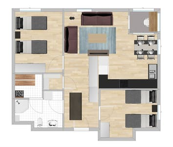 Appartement te huur vanaf 22 jan. 2019 (Asemakatu, Vaasa)