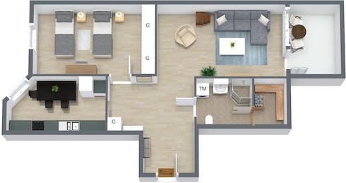 整套公寓租从19 Jun 2019 (Raastuvankatu, Vaasa)