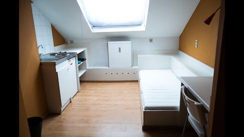 Private room for rent from 14 Apr 2019 (Rue de la Constitution, Schaerbeek)