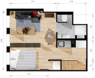 Appartamento in affitto a partire dal 22 mar 2019 (Noorderhavenkade, Rotterdam)