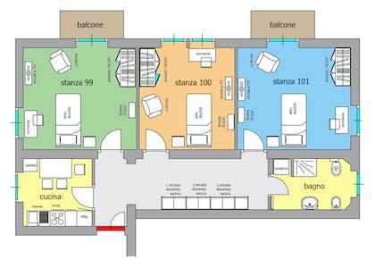Habitación privada de alquiler desde 01 Sep 2020 (Viale Verona, Trento)