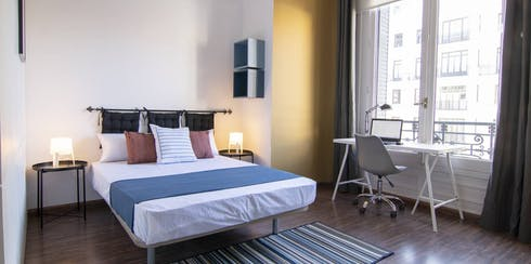 Private room for rent from 17 Aug 2019 (Calle Gran Vía, Madrid)